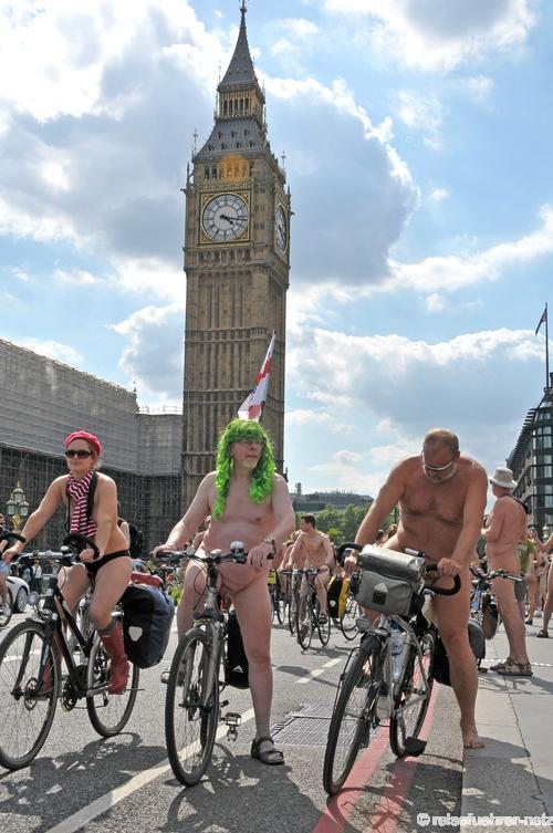 London Naked Bike Ride 2010